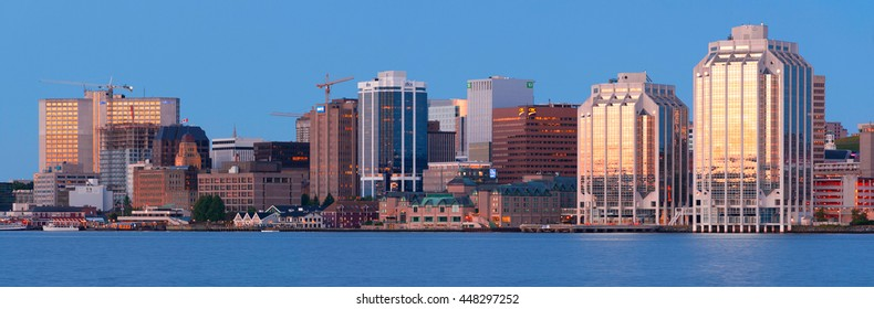 HALIFAX, CANADA - JULY 03, 2016: Downtown Halifax skyline at daybreak. Halifax is the capital of the province of Nova Scotia, Canada.