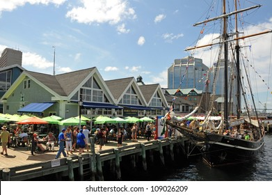 HALIFAX, CANADA - JULY 19: Tens of thousands of people visited the waterfront to partake in the Tall Ships event to see ships such as the Unicorn July 19, 2012, in Halifax, Nova Scotia.
