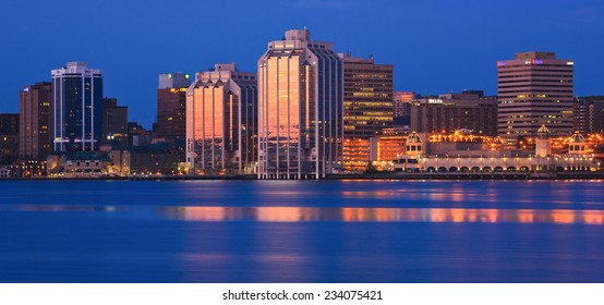 HALIFAX, CANADA - JULY 24, 2011: Downtown Halifax skyline at daybreak. Halifax is the capital of the province of Nova Scotia, Canada.