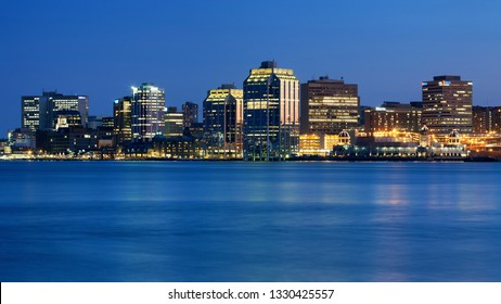 Halifax, Canada - March 20, 2012: Downtown Halifax skyline at dusk. Halifax is the capital of the province of Nova Scotia, Canada.