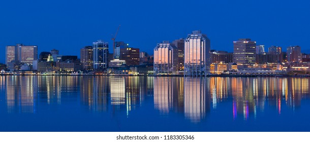 HALIFAX, CANADA - MAY 09, 2014: Downtown Halifax skyline at daybreak. Halifax is the capital of the province of Nova Scotia, Canada. Halifax