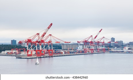 HALIFAX, CANADA - SEPTEMBER 19:  A view of the port of Halifax, Nova Scotia, in Canada on September 19, 2015.