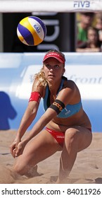 HALIFAX, CANADA - SEPTEMBER 3: Nina Betschart of Switzerland at the FIVB Beach Volleyball Swatch Junior World Championships on Sept. 3, 2011 in Halifax, Canada.