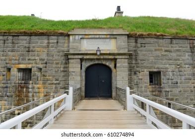Halifax Citadel National Historic Site on top of Citadel Hill in downtown Halifax, Nova Scotia, Canada. The current citadel was built in 1856.