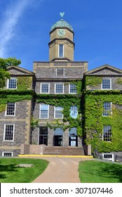 HALIFAX, NOVA SCOTIA, CANADA - AUGUST 5, 2015: The Henry Hicks Academic Administration Building of Dalhousie University, the largest in Atlantic Canada, on a sunny summer day.