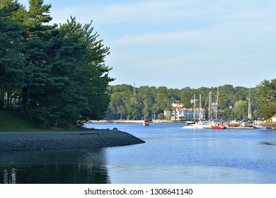 Halifax, Nova Scotia / Canada - July 30 2018:  Boats in the Waters of the Northwest Arm Halifax