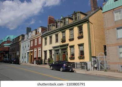 Halifax, Nova Scotia / Canada - Sept. 21, 2016: Victorian homes on Morris St.