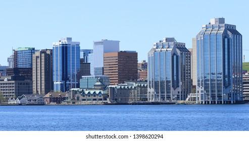 The Halifax, Nova Scotia city center on a beautiful day