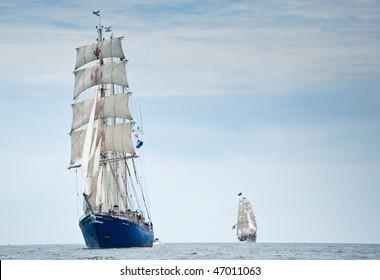 HALIFAX, NOVA SCOTIA - JULY 16: International ships gather for Tall Ships Nova Scotia 2009 on July 16, 2009 in Halifax, Nova Scotia. Pictured here is Concordia, lost at sea