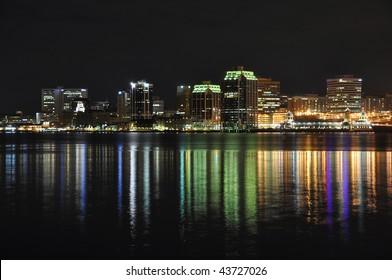 Halifax Nova Scotia at night. Taken from across the harbor in Dartmouth December 09