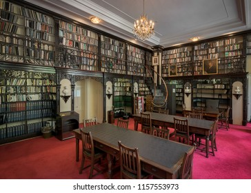 HALIFAX, NOVA SCOTIA/CANADA - JULY 16, 2018: Legislative Library of the Province House on Hollis Street in downtown Halifax