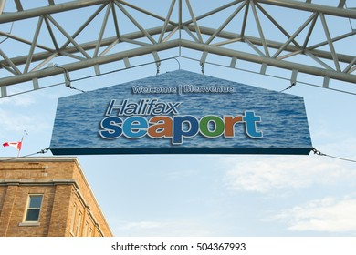 Halifax Seaport Sign - Nova Scotia - Canada
