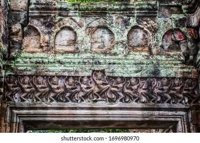 Hall of Apsara dancers at Preah Khan temple, Angkor, Cambodia