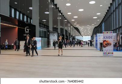 Hall Expo Forum. St. Petersburg, Russia - 3 October, 2017. Expo Forum venue of the St. Petersburg Gas Forum.