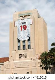 Hall of Famer Tony Gwynn's Jersey Adorns San Diego Building, July 29, 2007