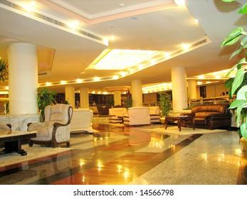 hall of modern luxury hotel