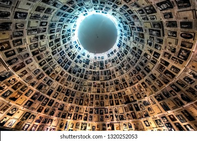 The Hall of Names in the Yad Vashem Holocaust Memorial Site in Jerusalem, Israel. 15-05-2017