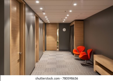 Hall in the office of the company