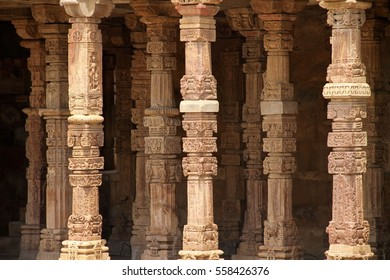 Hall of pillars on the Qutb Complex