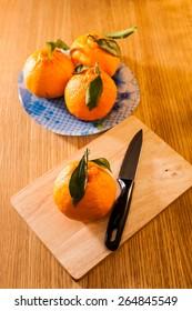 Hallabong, a type of orange from Jeju Island, South Korea.