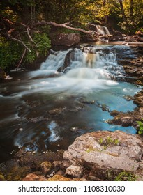 Hallamolla waterfalls in Skane, Sweden.