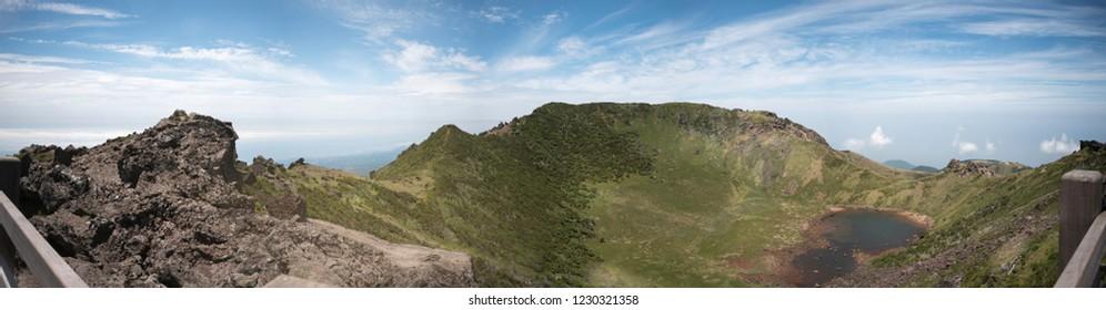 Hallasan mountain (Panoramic scene)