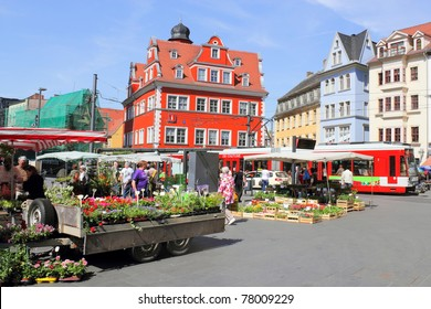 Halle Market Place in Halle (Saale), Germany
