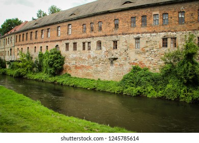 Halle (Saale) city and church, Germany