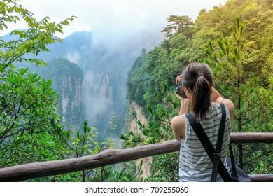 hallelujah mountain in Zhangjiajie national forest park,hunan,china