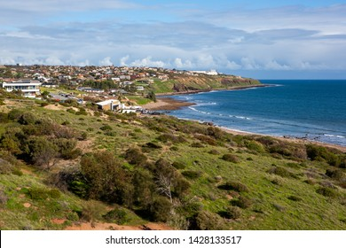 Hallett Cove beach from the conservation park in Hallett Cove South Australia on 19th June 2019