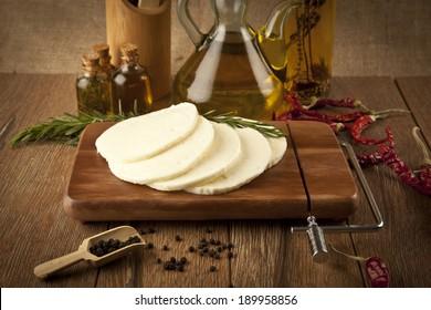 Halloumi Cheese concept photo