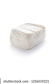 halloumi cheese isolated on white background