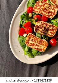 Halloumi Salad in a Beautiful Afternoon Light