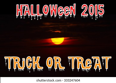 Halloween 2015 on sunset background