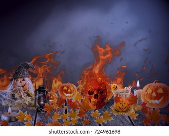 Halloween background with amazing colors and light