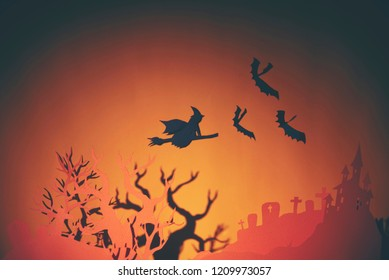 The Halloween background and decoration for party and business