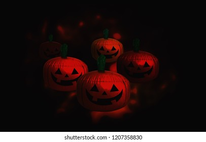 halloween background with pumpkin and black background