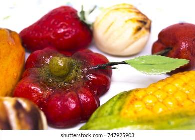 halloween cakes, sicilian marzipan, fruits