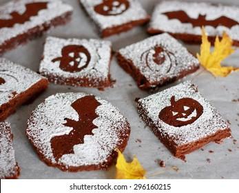 Halloween Chocolate Brownies