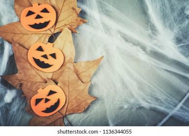 Halloween concept with Scary halloween pumpkin