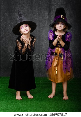 Halloween Costumes On Two Girls Stock Photo Edit Now 156907517