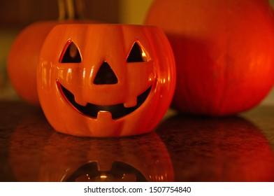 Halloween Decoration - Pumpkin Candle Holder