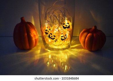 Halloween Decoration with Pumpkins