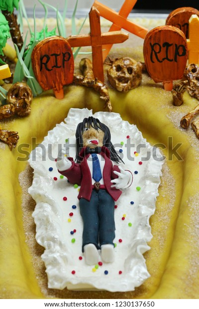 Prime Halloween Decoration Scary Cake Concept Stock Photo Edit Now Birthday Cards Printable Trancafe Filternl