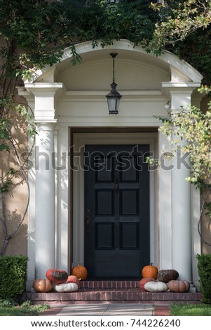 Halloween Decorations Front House Stock Photo Edit Now 744226240