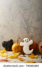 Halloween Ghost cookies composition