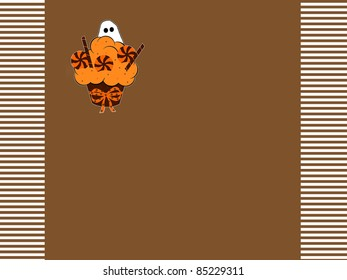 Halloween Ghost Cupcake - Text Space