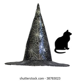 Halloween hat with a web for modern children