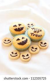 Halloween homemade cookies and cupcakes