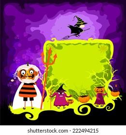 halloween magical frame